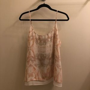 Rachel Zoe NWT White and Light Pink Blouse Size L